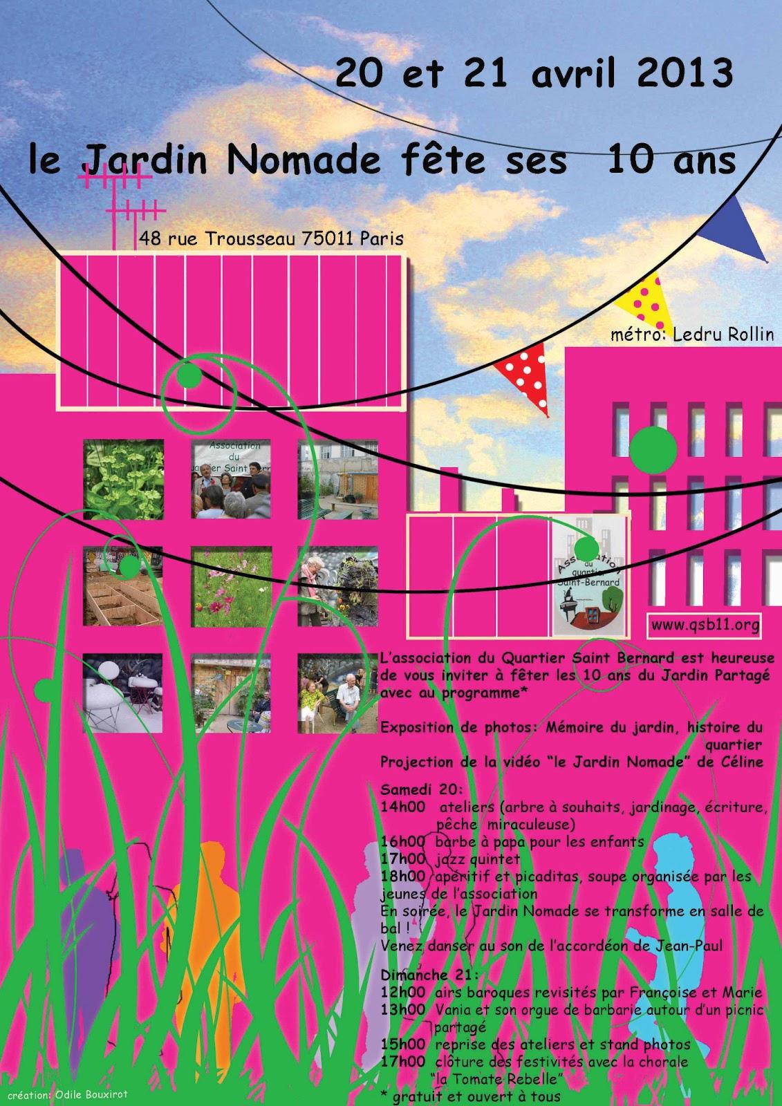 Rue de la forge royale avril 2013 for Le jardin 21 rue de la federation