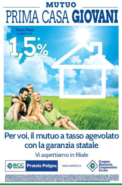 BCC CREDITO COOPERATIVO - PRATOLA PELIGNA-Campagna nuovi Prestiti Casa Giovani