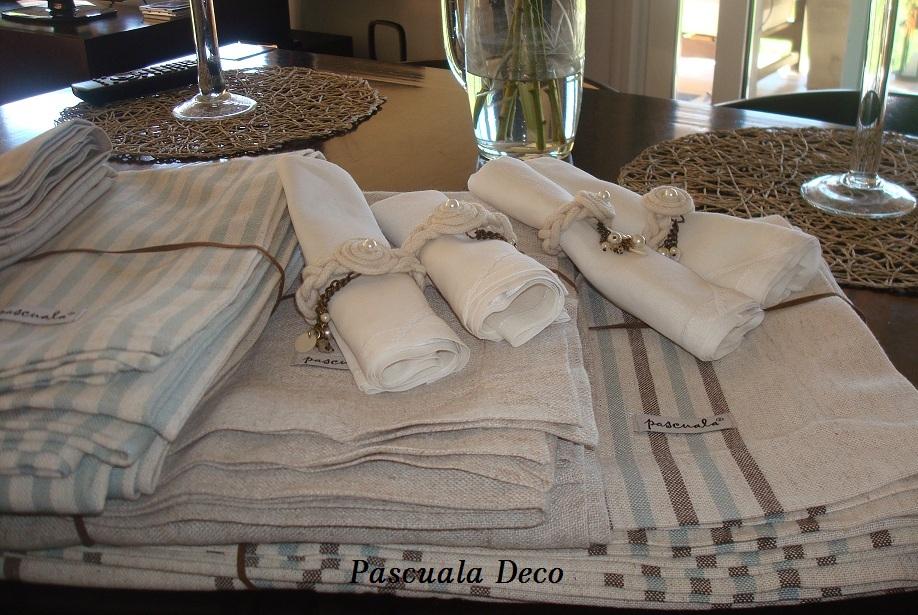 Pascuala deco manteles servilletas y sujeta servilletas - Manteles de lino ...