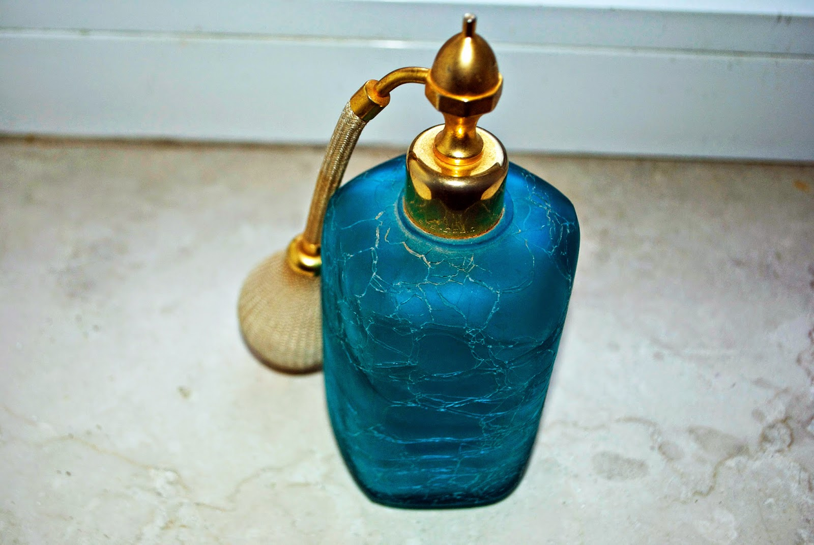 Blue French Perfume Bottle