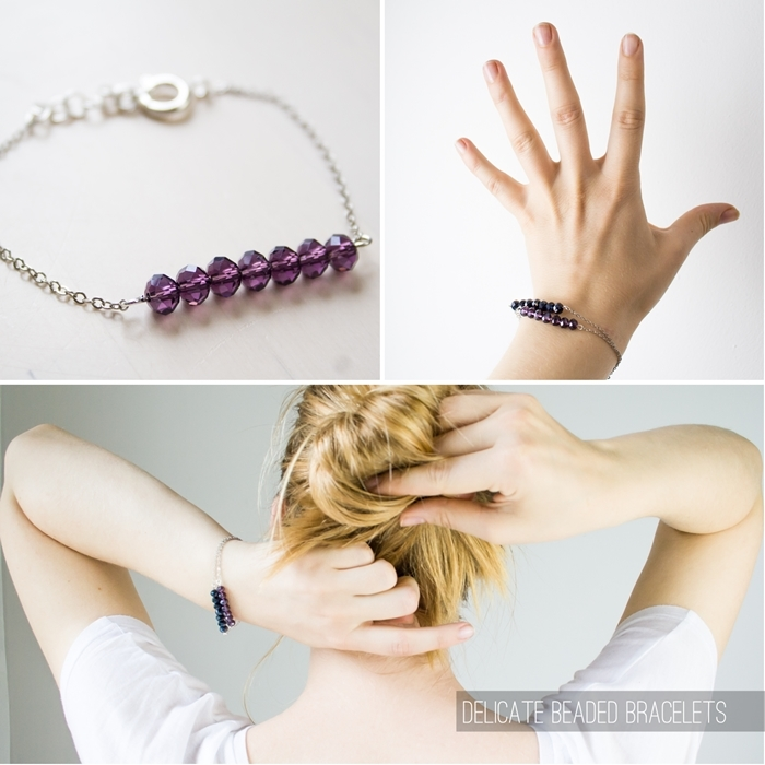 Bracelet de perles délicates