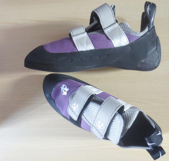 evolv elektra violet rock climbing shoes ladies womens
