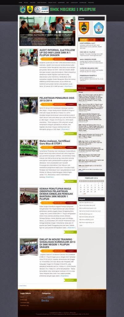 Paket Website Sekolah Gratis dengan CMS Wordpress