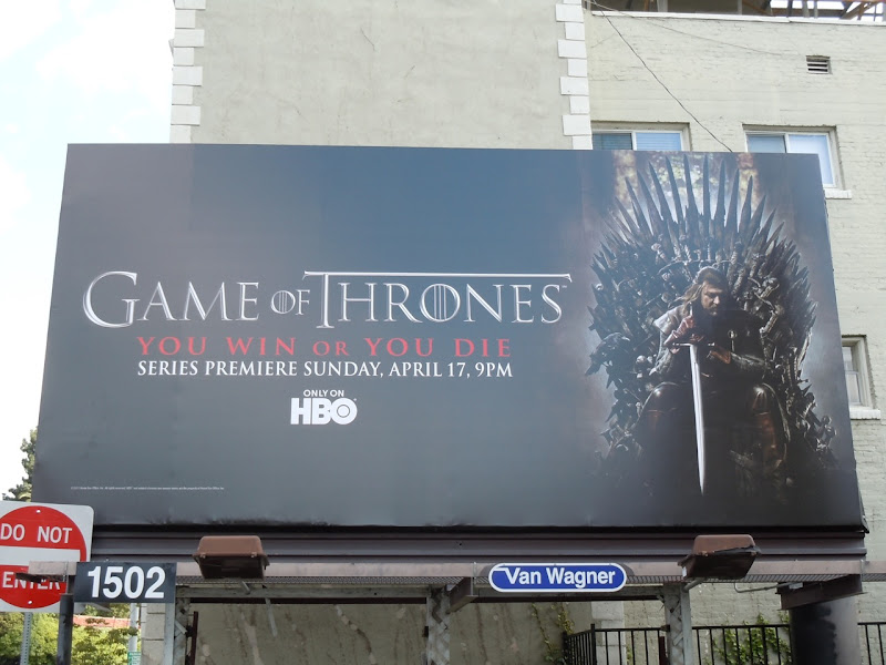 Game of Thrones TV billboard