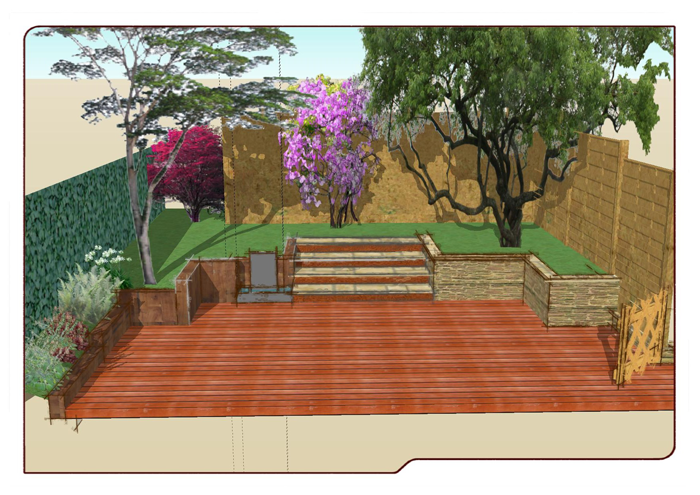 Paysagiste val d 39 oise cr ation jardin 95 un jardin en milieu urbain - Jardin terrasse mediterraneen nanterre ...