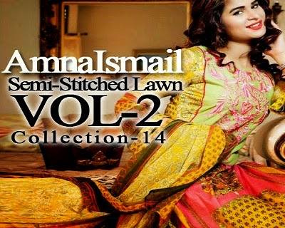 Amna Ismail Summer Dresses 2014 Vol-2