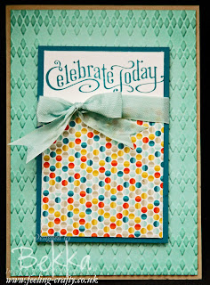 Celebrate Today Sale-a-Bration Card by Stampin' Up! Demonstrator Bekka Prideaux - check her blog for lots of great ideas and to see how you can get hold of the wonderful Stampin' Up! Products