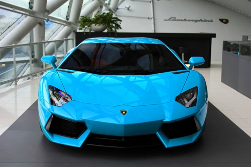 Awesome Blue Car