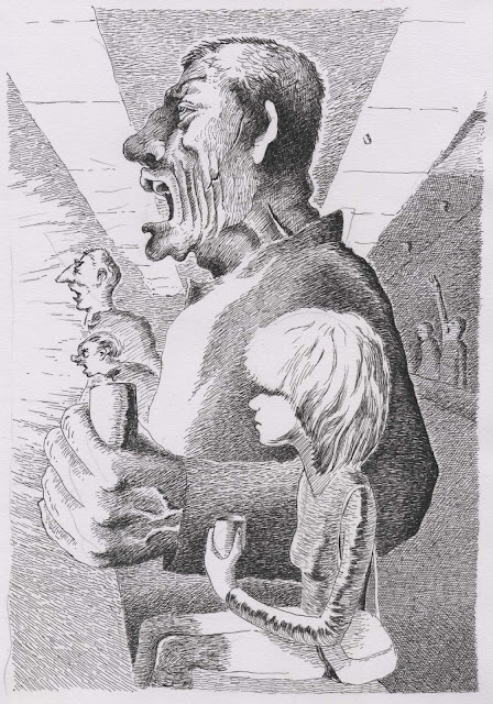 george orwell, 1984, satirical drawing