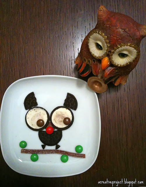 Edible Halloween Owl