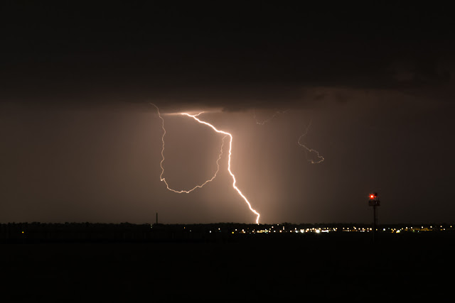 lightning over melbourne