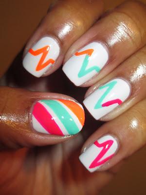 Color Club, Poptastic, heartbeat, cardiac monitor, April Tri Polish Challenge, Day 3, nails, nail art, nail design, mani