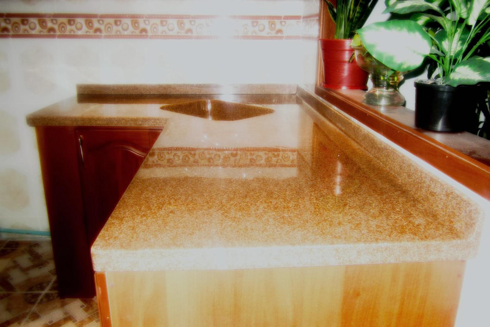 muebles para baño y cocina en policuarzo y fibra de vidrio