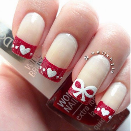 Easy nail art designs 1 valentines day heart nails melodysusie nothing beats a classic french manicure how romantic when you add some hearts to the classic french manicure these valentines day nail art designs prinsesfo Choice Image