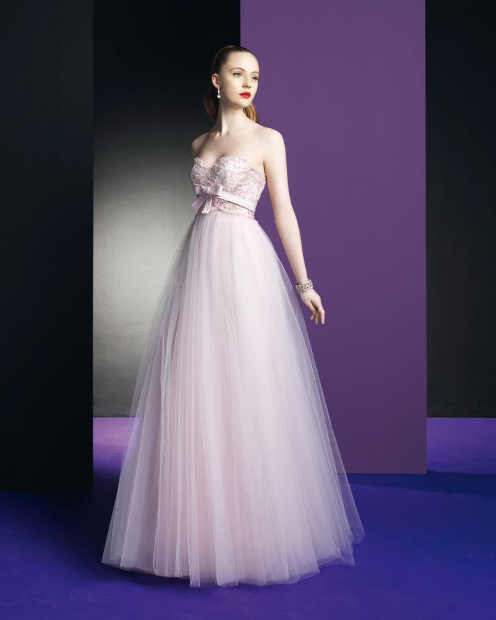 Pink Wedding Dresses: Dawn J's Fashion Wedding Gown: Pink Wedding Gowns