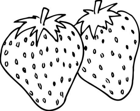 Dibujo de una frutilla para colorear - Imagui