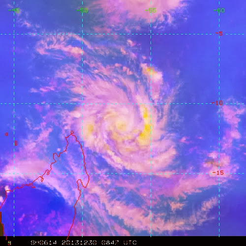 Image satellite cyclone tropical Béjisa
