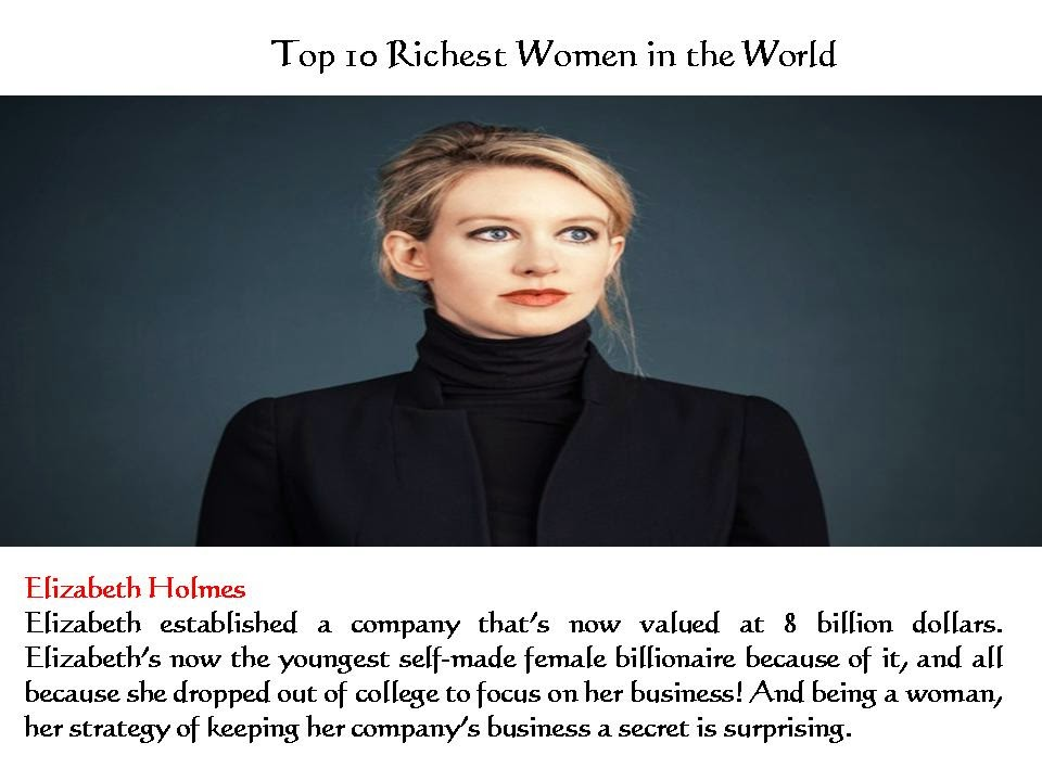 Top 10 Richest Women in the World