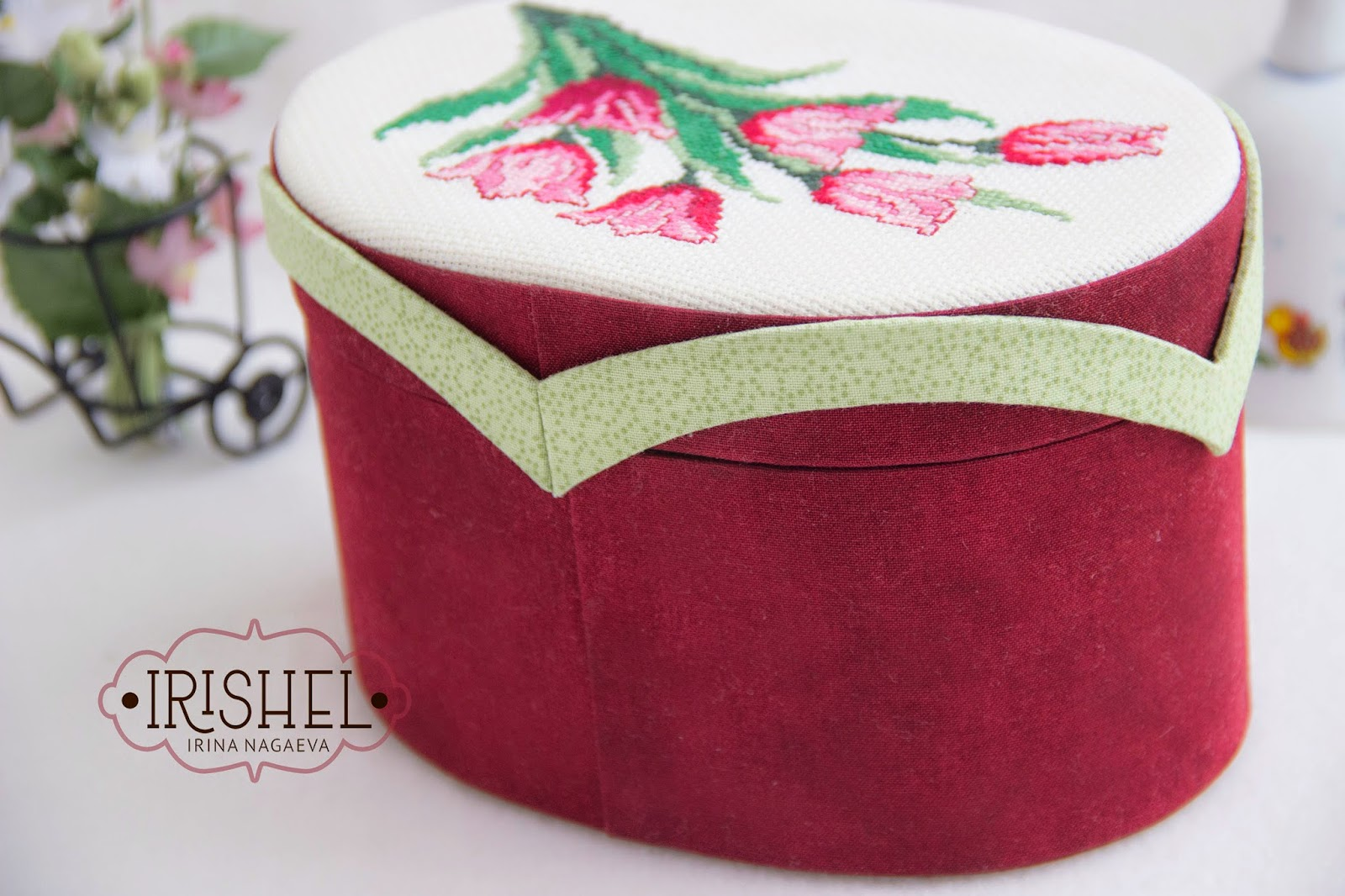 шкатулка, картонаж шкатулка с вышивкой картонажная шкатулка овальная шкатулка шкатулка в подарок