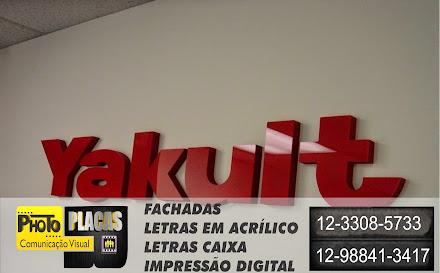 FACHADAS EM ACM COM LETRAS CAIXA  EM ACRÍLICO FÁBRICA YAKULT LORENA- SÃO PAULO