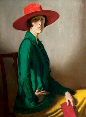 W Strang. Lady with a Red Hat (Vita Sackville-West) 1918