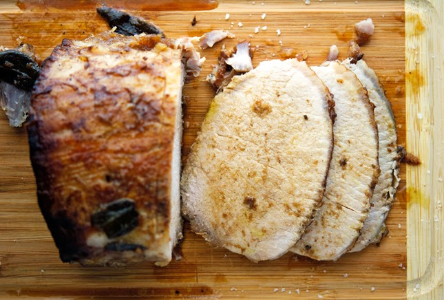 Roast Pork Loin with Vinegar and Sage