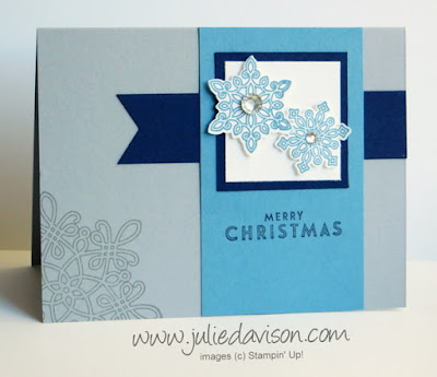 Stampin' Up! Flurry of Wishes Christmas Card - 2015 Holiday Catalog #stampinup #christmas www.juliedavison.com
