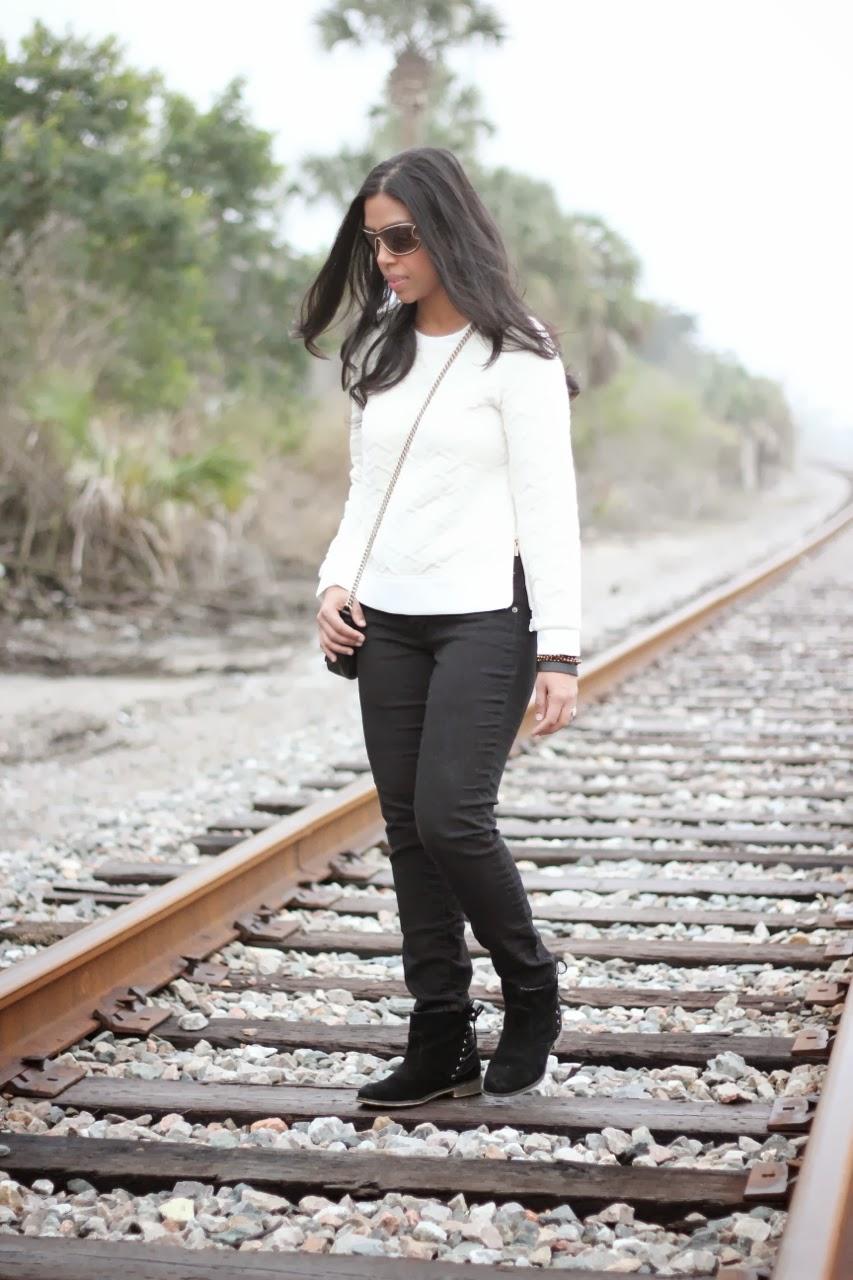 ivory quilted sweatshirt gucci bag saint laurent sunglasses