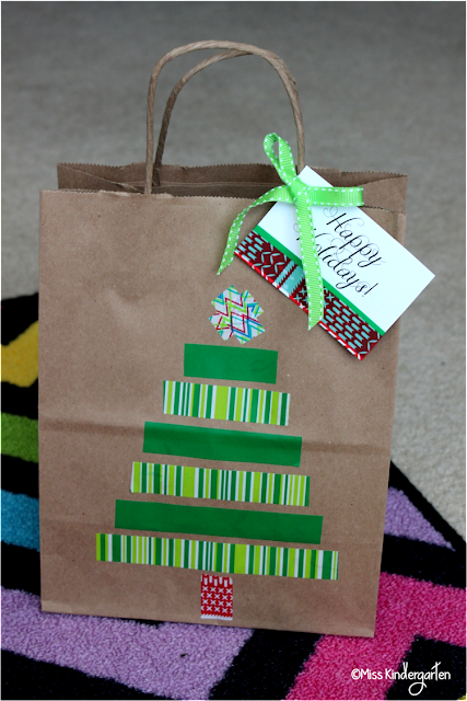 Scotchexp holiday gift bags and tags miss kindergarten