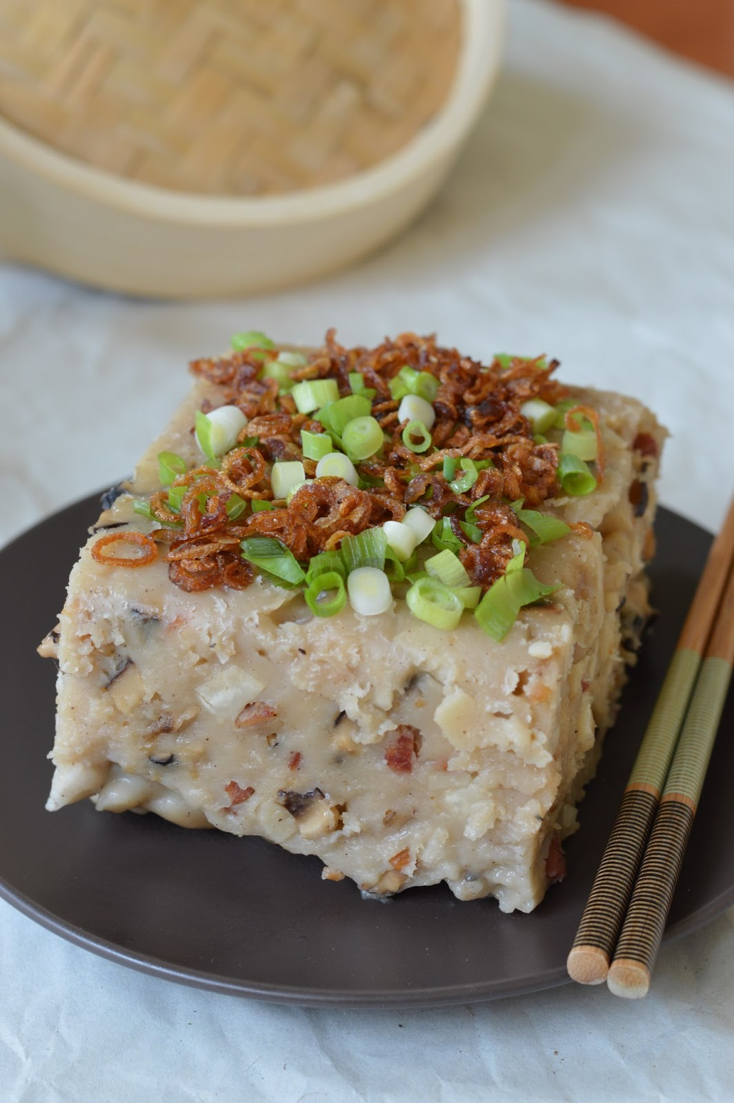 Chinese Steamed Yam Cake Recipe