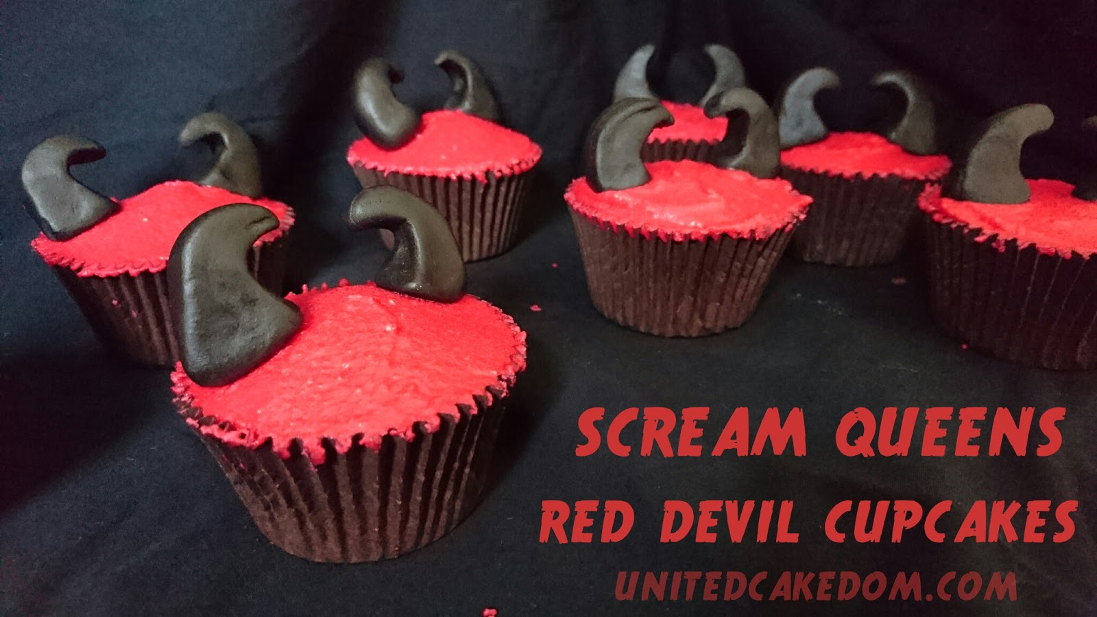 United Cakedom: Red Devil Cupcakes {inspired by Scream Queens}