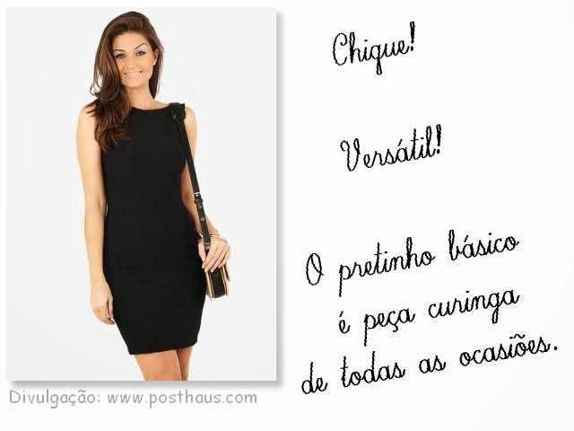 Vestido tubinho preto é básico, chique e versátil.