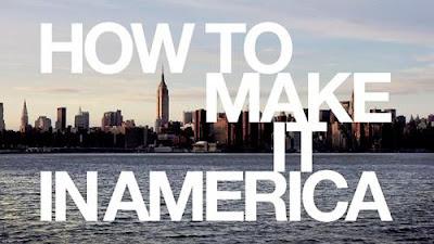 """Imagen de Nueva York con el título de la serie en inglés """"How to Make It in America"""""""