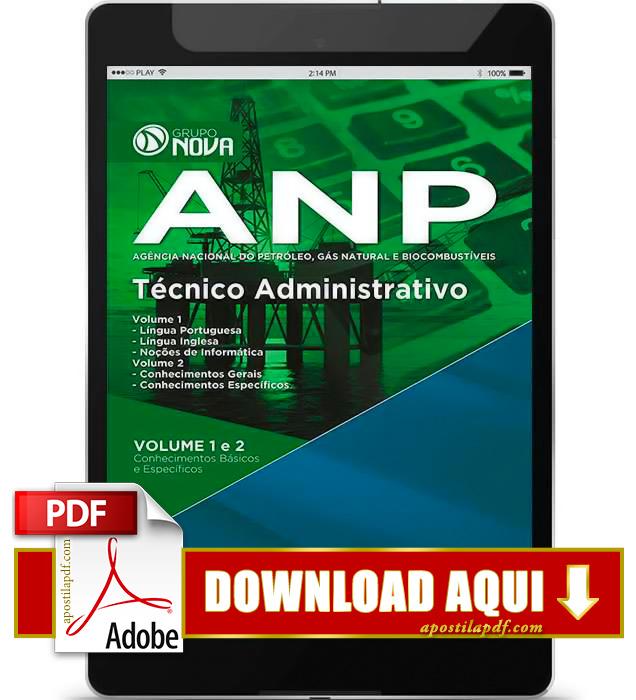 Apostila ANP 2015 Técnico Administrativo PDF Download