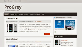 Pro Grey Blogger Template
