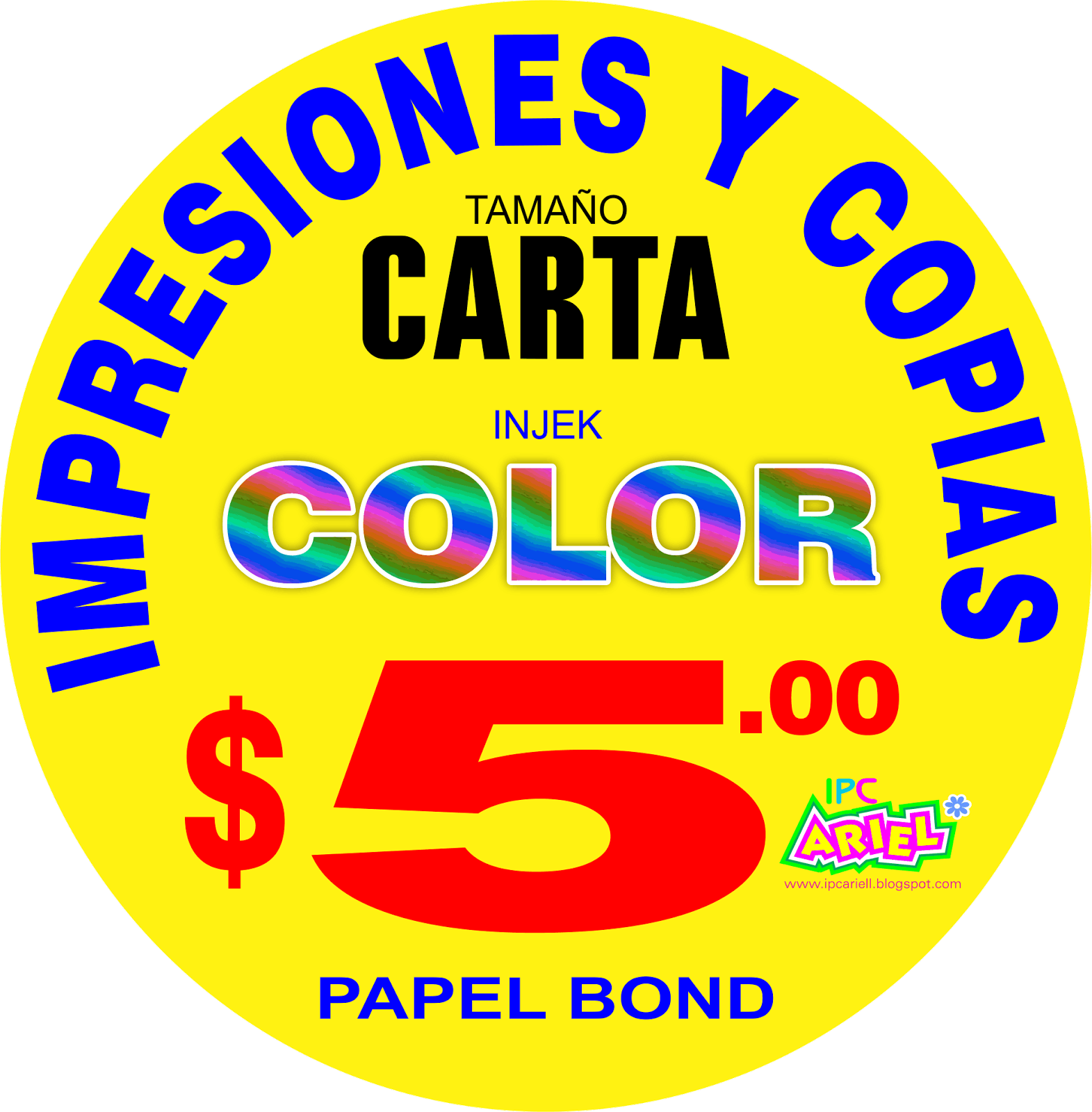 IMPRESIONES A COLOR INJEK