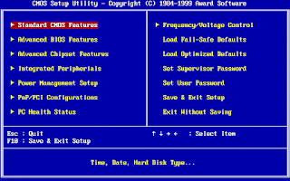 Tampilan Award BIOS pada Komputer