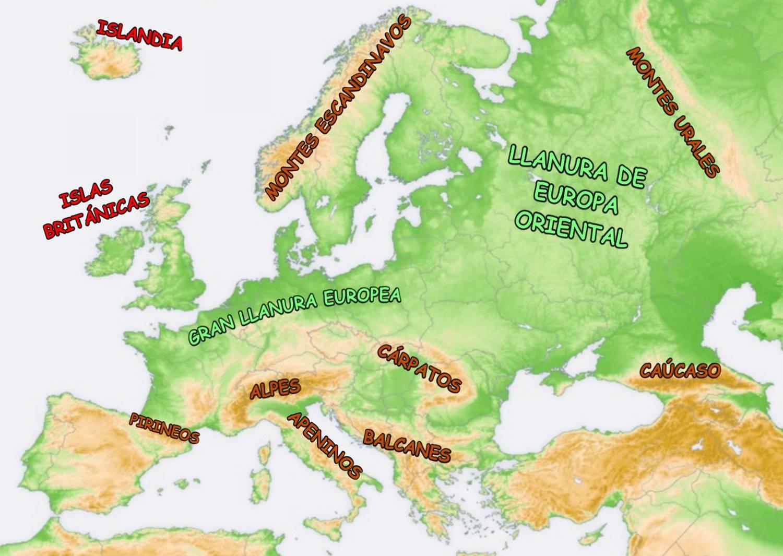 Mapa Actual De Europa