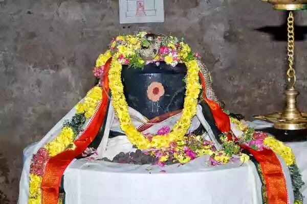 shivalinga decorated snake in linga