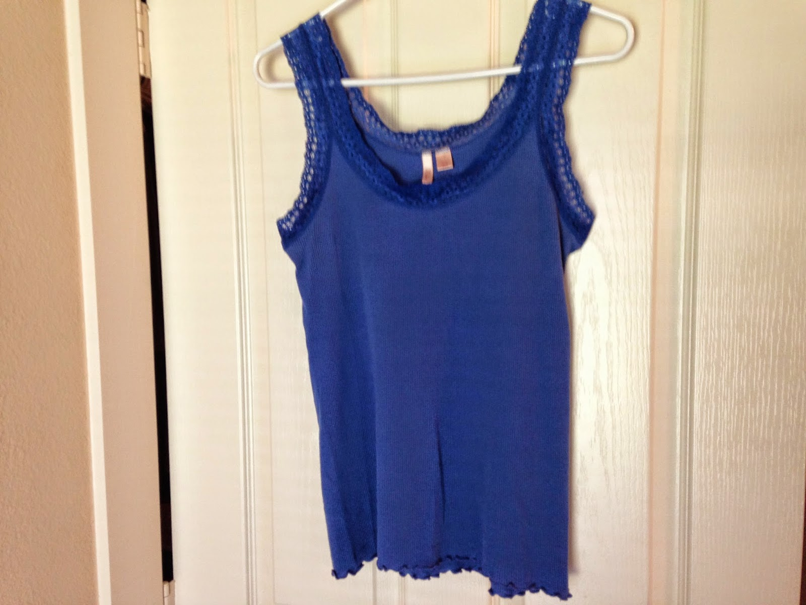 Ulterior Alterations: Refashioned Tank from Men's Button Down & Lacey Tank
