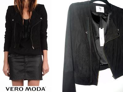 perfecto veste daim noir