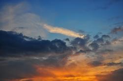 Der Schein der untergehenden Sonne...