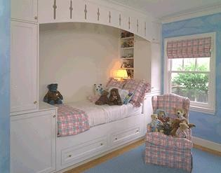 And Last, A Colorful And Cheerful Built In Beds. Here Again The Beds Where  Positioned In A Row In Order To Maximize Space In A Narrow Attic.