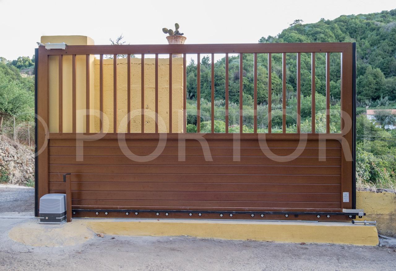 Portore s a puertas correderas de aluminio for Puertas para garajes