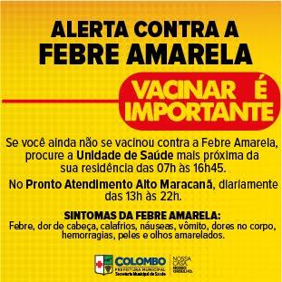 ALERTA CONTRA A FEBRE AMARELA