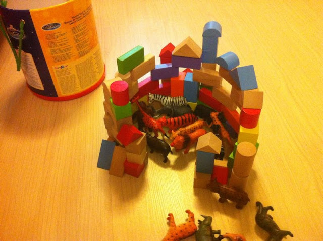 Build a zoo using building blocks