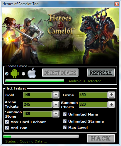 Download Heroes of Camelot Cheat