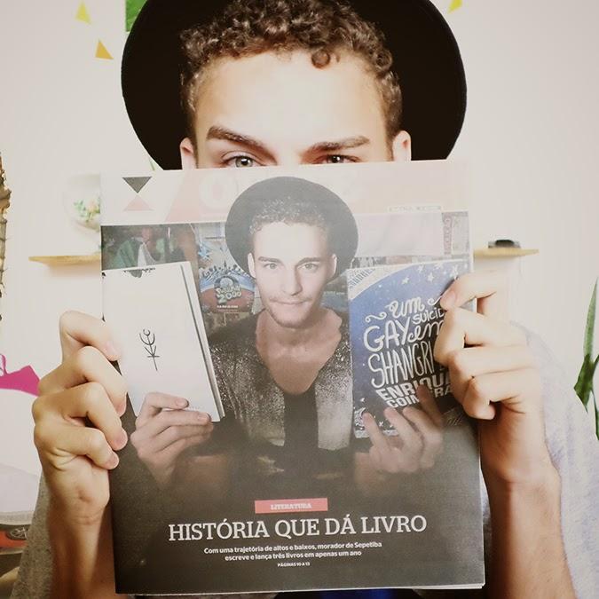 Enrique Coimbra na capa do jornal Extra