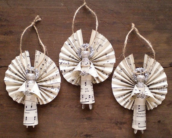 The art of up cycling homemade angels for christmas