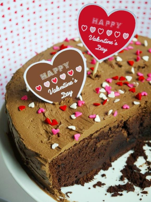 Cake it Pretty Recipe:  Chocolate Valentine's Cake with Creamy Ganache